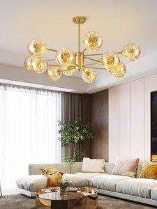 Pendant Lamps Modern Led Stone Crystal Luminaire Lights E27 Light Home Lighting Retro Lamp Dining Rooom Livingroom