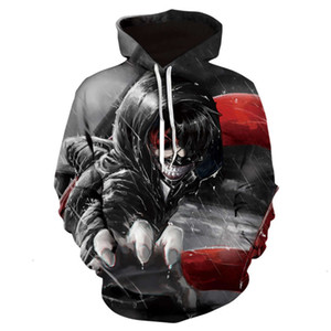 2021Tokyo Japan Ghoul Hooded Pullover 3D Printing Animation Men's Sweater Mens Sweatshirts Print For Hoodie Designer Free Shipping