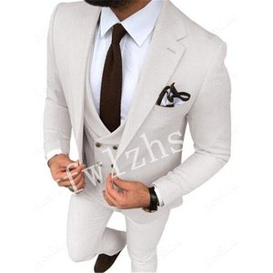 Custom-made One Button Groomsmen Notch Lapel Groom Tuxedos Men Suits Wedding Prom Dinner Best Man Blazer(Jacket+Pants+Tie+Vest) W676