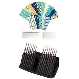 1 Set Wasserdichte Geldkasse Umschläge Wiederverwendbare Umschläge 1 Set Detail Pinseleinsatz, Miniatur Malerei Bürsten Kit
