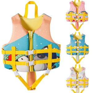 Kids Toddler Neoprene Life Jacket Vest Water Sports Kayaking Boating Swimming Surfing Drifting Beach Pool Safety Life Vest Girls