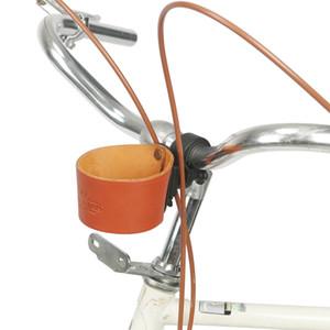 Tourbon Bike Coffee Tea Cup Beer Holder Bracket Genuine Leather Drink Bottle Water Kettle Carrier Bicycle Bag Accessories