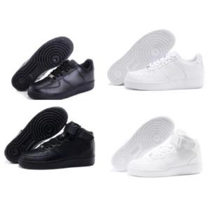 Force 1 one AF1 Nike barato obligado a los hombres zapatos bajos Uno unisex 1 de punto de alta Mujeres Todos Blanco Negro al aire libre cojín aires zapatillas airs 5,5-11