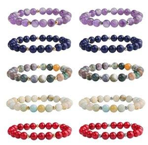 Beaded, Jewelrybeaded, Strands Bracelets Jewelry8Mm Fashion Bead Natural Stone Healing Crystal Stretch Beaded Bracelet Women Men Handmade Ge
