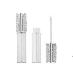 5ML Diamond Empty Round Lip Gloss Tube High Grade Clear Plastic Lip Gloss Containers Filling Bottle DWA3920