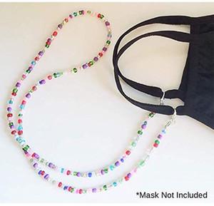 Halskette Halskette Lanyard Kristall Perle Diamant für Gesichtsmaske Gläser Sonnenglas Universal Perlen Sling Hängen Tragbare Kettenhalter WLL4
