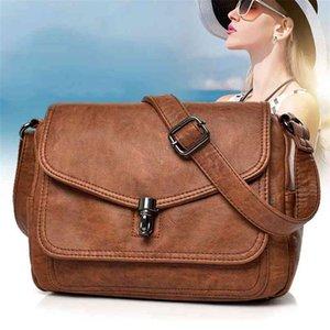 Fashion Women Leather Bags High Quality Luxury Ladies Shoulder Designer Crossbody Messenger for Female 210908