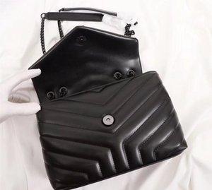 Designer Lou Lou Borse Borse Top Quality Genuine Leather Women Borse famose Borse a catena messenger Crossbody Borsa a catena di Messenger Loulou Borsa di alta qualità 25cm