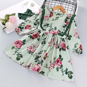 Baby Girl Dress Kids Clothes Teen Costume Princess Beauty Designer Tulle Elegant Evening Long Sleeve Party Print vestidos robe