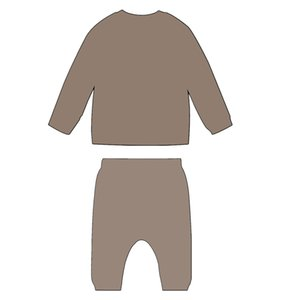 FF Children Kitted Clothes Set Knitting Pullover and Long Pants Baby Knit Romper with Rabbit Hats Brown PInk Blanket 210225