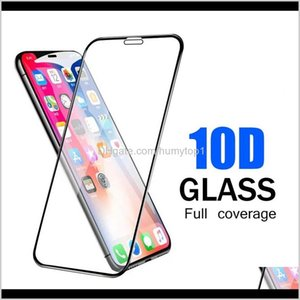 10D Curved Tempered Glass Screen Protector Full Cover On The For Iphone 12 11 Pro Xr Xs Max X 8 7 6S Plus Adhesive Glue Protective Fil 9Wj2C