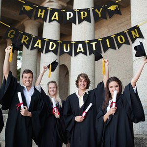 Graduation paper Banner Flags Congrats Grad Rustic Garland 2021 Party Mantel Fireplace Wall Hanging for Home GWC7260