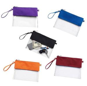 Portable PVC Transparent Shoulder Bag Fashion Solid Color Messenger Bag Waterproof Handbag Change Storage Bag 5 Colors