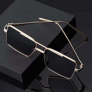 2021mens sunglasses Luxury designer Sun glasses Fashion metal plate Unique plank Square Glasse for men Women couples Polarized eyewears 6colors