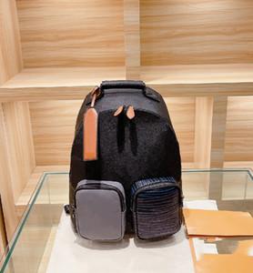 Zaino da uomo Designer Lettera Pattern Borse School Bag Fashion Corrispondenza Cucitura Rivestita Canvas Zaino di alta qualità WF2103111