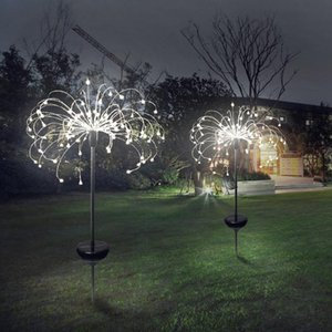 Solar Fireworks Lights 120 LED String Lamp Waterproof Outdoor Garden Lighting Lawn Lamps Christmas Decorations lights OWA3722