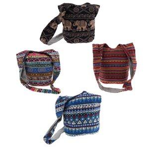 Yoga Convertible Crossbody Backpack Thai Cotton Hippie Hobo Sling Shoulder Bag with Zipper
