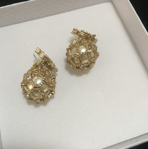 Designer hollow Earrings 2021 new gold pattern fashionable Ball Earrings with box free shipping 0304