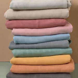 Bamboo Baby Blanket Double Layers Muslin Gauze Newborn Swaddle Soft Bath Towel Solid Stroller Cover 23 Colors Optional