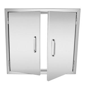"""Venda quente 304 Acesso Double Walled Porta 30.5 """"x 21"""" BBQ Cozinha Titular em aço inoxidável"""