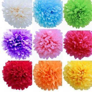 Bolas de flor de papel de guirnaldas de 4 pulgadas a papel 18 pulgadas para elegir DIY Papel Flowers InicioGarden Decoraciones Pine Garland Envío gratis F