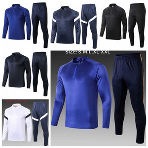 2020 2021 adult Half zipper Football Training Suits Long Sleeve Soccer Tracksuit 20 21 Survetement Maillots de Foot Chandal Kit YY88
