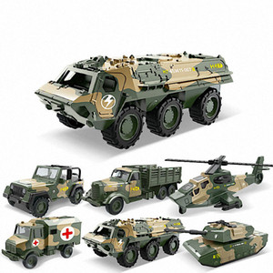 Alloy Metal Clockwork Simulation Military Armed Tank Armored Vehicle Car Truck Children's Toy Model Helicopter