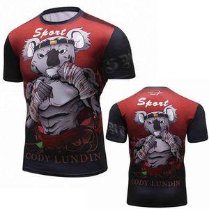 BJJ Rashguard تي شيرت الرجال ضغط MMA Fitness Musccle Fight Top Muay Thai Tese Jiu Jitsu StackWear