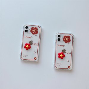 Red Flower Cell Phone Cases For Apple iphone XR XS XSMAX 12 Cell Phone Accessories Phone Protector