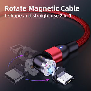 Cell Phone 3 In 1 Magnetic Braided Charging Micro Magnetic Usb Cable High Quality 3 in1 2.4a Fast Charger 1M 2M Cable Line with Box