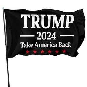 Donald Trump Flags 2024 Re-Elect Trump 2024 Take America Back Flag Outdoor Indoor Decoration Banner Flag 3x5 CCF5134