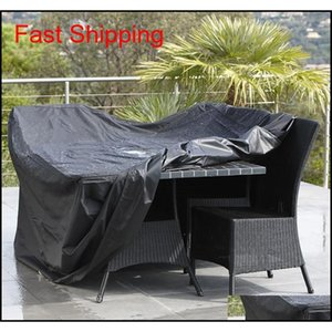 Outdoor Folded Oxford Cloth Furniture Cover Dust Proof Waterproof Furniture Cover Portabl qylElr toys2010
