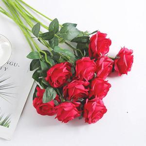 50pcs Rose Artificial Flowers Wedding Party Accessories DIY Craft Home Decor Handmade Flower Head Wreath Supplies OWD5052