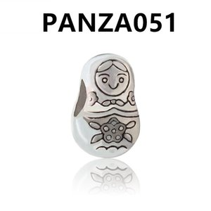 PANZA051 Alloy Charm Bead Fashion Women Jewelry European Style Fit For DIY Bracelet Necklace Bangle Little Components
