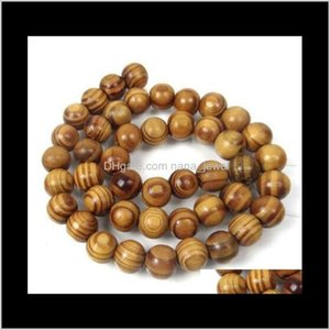 Natural Woodgrain Round Space Bead Oval Charms For Necklace Bracelet Findings Jewelry Making Handcraft Accessories 200Pcs Z926 Bzsto Lbttp