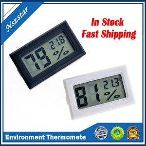 black white FY-11 Mini Digital LCD Environment Thermometer Hygrometer Humidity Temperature Meter In room refrigerator icebox