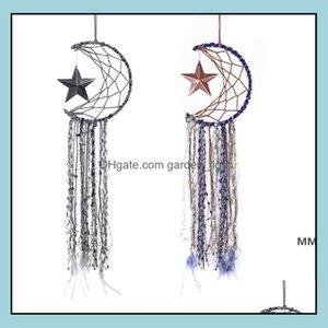 Arti e arti, Artigianato regali Home GardenDreamcatcher Bells Hang Moon Star Dreamcatcher Feather Dream Catcher Pendente Parete Appeso Stanza Deco
