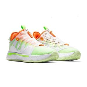 Paul George IV PG 4 Gatorade Beyaz Erkek Basketbol Ayakkabı PG4 Spor Sneakers ile Kutusu Mağaza Ücretsiz Kargo Boyutu 40-46
