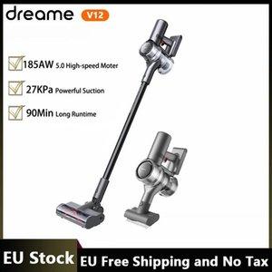 Stock de la UE Dreame V12 Limpiador inalámbrico inalámbrico de mano de mano V12 27KPA STUCCIÓN FUERTE 185AVIE 5.0 Motor de alta velocidad Pantalla OLED INCLUYE DEL IVA