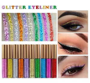 HANDAIYAN 10pcs Waterproof Shiny Eyeshadow Glitter Liquid Eyeliner Makeup Eye Liner DHL fast