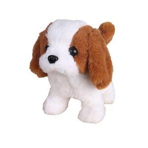 Cão realístico de simulação de pelúcia inteligente chamado caminhada de brinquedo de pelúcia elétrico de pelúcia do cão de pelúcia criança brinquedo puppy pelúcia para presente de Natal