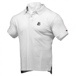 2020 Summer New Sports Fitness Men's Short Sleeve Solid Color Polo Shirt