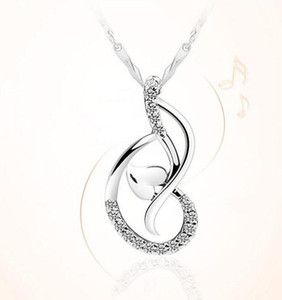 Love Dance Pendant White Gold Plated 925 Sterling Silver Necklace Pendant Heart Pendant Jewellery ps0754
