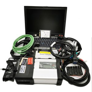 WIFI Mb Star Diagnostic tool C5 Five Cables with 06 2021Newest Software Hdd Installed for Dell d630 Laptop Full Set Scanner 12v 24v
