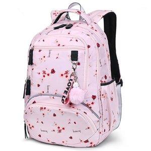 Large Schoolbag Women Students School Backpack Waterproof Bagpack Middle High Book Bags For Teenage Girls Kids1