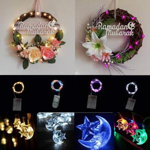 Moon Star String Light LED Fairy Lights Ramadan Decoration Room Curtain Garland For Eid Mubarak Muslim Islamic Ramadan Party