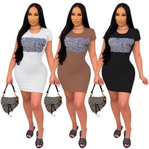 Dresses for Womens Clothes short sleeve desinger Dresses one piece slip dress set shirt hot sale sexy fashion dresses beach dress klw6106