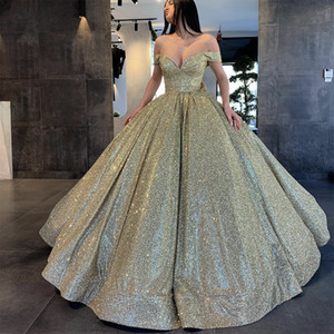 Sequins Quinceanera Dresses 2021 Off Shoulder Ball Gown Sweet 16 Party Dresses Prom Gowns Off the Shoulder Vestidos De 15