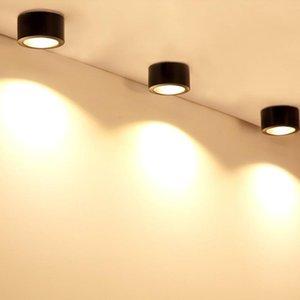 Современный прожектор на поверхности установлен пятно светодиодный алюминиевый COB чип дома гостиная столовая витрина витрина коридора