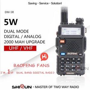Baofeng DM-5R Dual Band DMR Digital Walkie Taklie Transceiver 1W 5W VHF UHF 136-174 400-480 MHz Handheld Two Way Radio 2000mAH